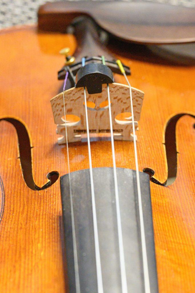 Violine mit Dämpfer